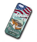 KOOLART AMERICAN MUSCLE Car Dodge Challenger 440 six pack Case For iPhone 5 & 5s